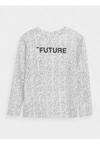 Biała koszulka z długim rękawem 4f