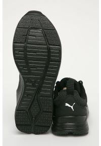Czarne buty sportowe Puma do biegania, na sznurówki