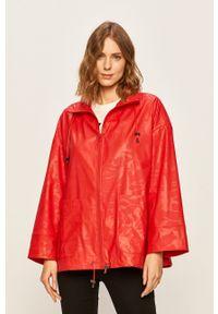 Czerwona kurtka Desigual Sport na co dzień, z kapturem