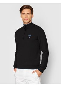 Aeronautica Militare Sweter 212MA1343L415 Czarny Regular Fit. Kolor: czarny