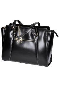 Czarna torba na laptopa MCKLEIN elegancka, paisley