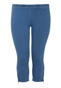 Niebieskie legginsy Zhenzi krótkie