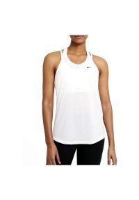 Koszulka damska treningowa Nike Dri-Fit DA0370. Materiał: poliester, materiał. Długość rękawa: na ramiączkach. Technologia: Dri-Fit (Nike). Sport: fitness
