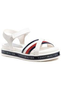 Białe sandały TOMMY HILFIGER na platformie