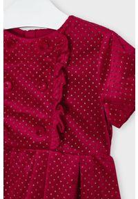 Czerwona sukienka Mayoral z krótkim rękawem, rozkloszowana, mini
