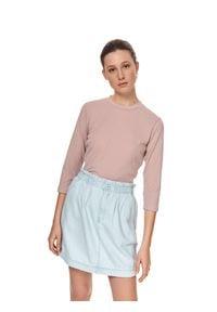 TOP SECRET - Bluzka z rękawem 3/4. Kolor: różowy. Materiał: tkanina. Sezon: lato