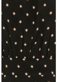 Czarna sukienka Answear Lab wakacyjna, midi, prosta