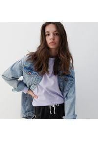 Reserved - Bluza z bawełny organicznej - Fioletowy. Kolor: fioletowy. Materiał: bawełna