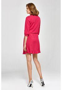 Colett - Swobodna sukienka z regulowaną talią styl BOHO. Okazja: na co dzień. Typ sukienki: proste. Styl: boho
