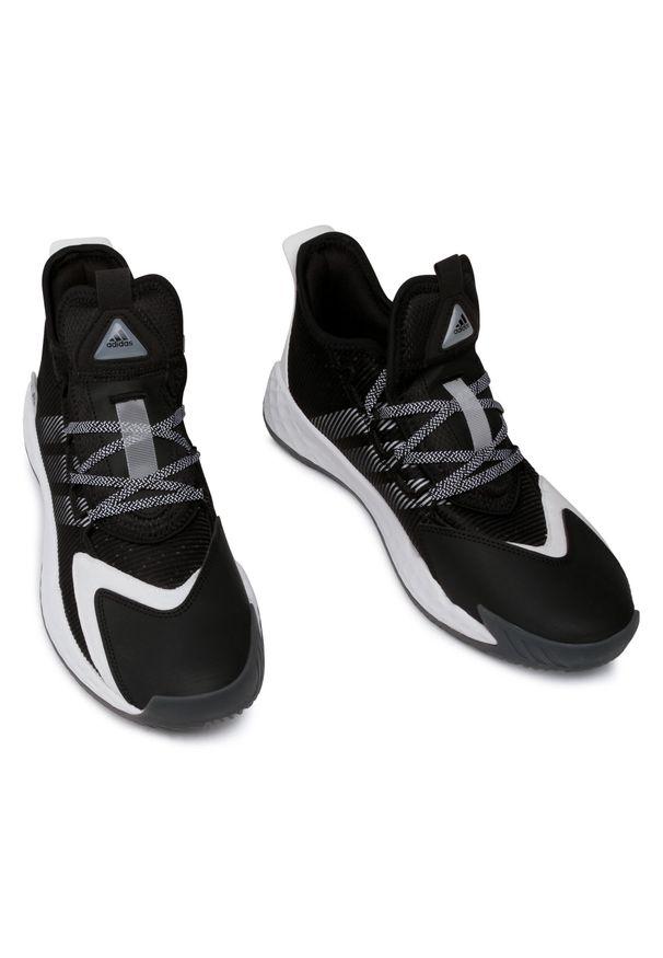 Czarne buty do koszykówki Adidas z cholewką, na co dzień