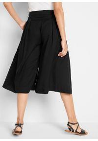 Spodnie culotte z szerokimi nogawkami, TENCEL™ Lyocell bonprix czarny. Kolor: czarny. Materiał: lyocell