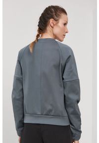 Szara bluza rozpinana Adidas na co dzień, casualowa
