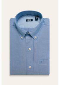 Niebieska koszula Izod długa, na co dzień, button down, casualowa