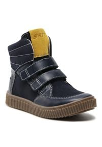 Bartek - Trzewiki BARTEK - 4435-E1AP Ocean/Zółty. Kolor: niebieski. Materiał: skóra, zamsz. Szerokość cholewki: normalna. Sezon: zima