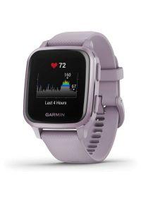 Fioletowy zegarek GARMIN sportowy, smartwatch