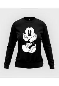 MegaKoszulki - Bluza damska taliowana Myszka Mickey. Wzór: motyw z bajki