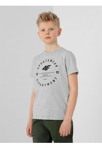 Szary t-shirt 4f