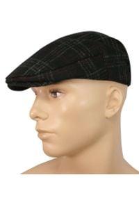 Czarna czapka Pako Jeans na jesień, w kratkę