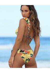DEL MAAR - Top od bikini Namaka. Kolor: żółty. Materiał: materiał
