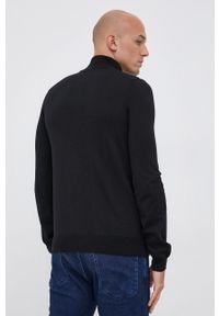 Hugo - Sweter wełniany. Okazja: na co dzień. Kolor: czarny. Materiał: wełna. Długość rękawa: długi rękaw. Długość: krótkie. Styl: casual