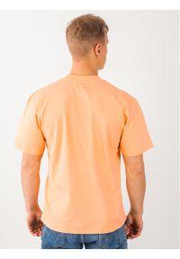 Pomarańczowy t-shirt Edwin