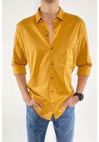 Żółta koszula IVET na co dzień, casualowa