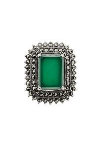 W.KRUK Srebrna Broszka - srebro 925, Agat,markasyt - SHF/BS039. Materiał: srebrne. Kolor: srebrny. Wzór: aplikacja. Kamień szlachetny: agat