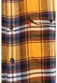 Żółta koszula Levi's® w kolorowe wzory, z klasycznym kołnierzykiem, na co dzień, długa