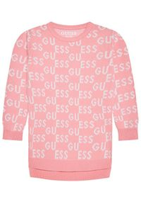 Guess Sweter K1YK04Z2S50 Różowy Regular Fit. Kolor: różowy