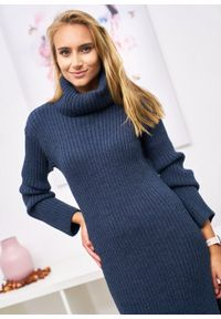 Czarny sweter Ligari Dresses elegancki, w paski