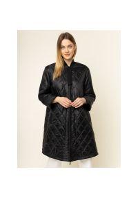 Czarny płaszcz Emporio Armani