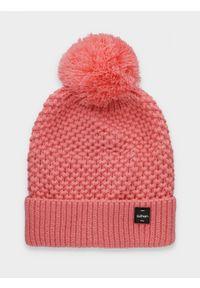 Różowa czapka zimowa outhorn