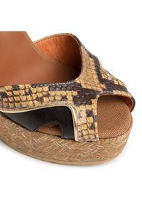 Brązowe sandały Kanna casualowe, na co dzień