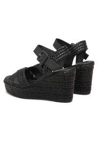 Czarne sandały Xti na co dzień, casualowe