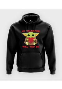 MegaKoszulki - Bluza z kapturem Baby Yoda Valentines. Typ kołnierza: kaptur