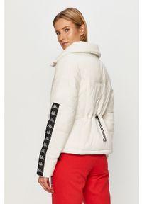 Biała kurtka Kappa na co dzień, bez kaptura, casualowa