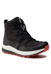 Czarne buty zimowe Rossignol eleganckie, z cholewką