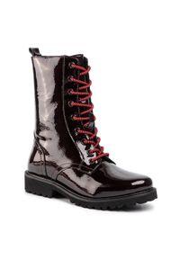 Czerwone buty trekkingowe Sergio Bardi z cholewką