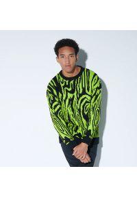 House - Wzorzysty sweter - Zielony. Kolor: zielony