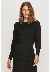 only - Only - Sweter. Kolor: czarny. Długość rękawa: długi rękaw. Długość: długie. Wzór: aplikacja