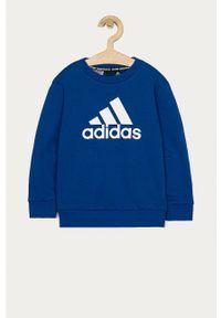 Niebieska bluza adidas Performance na co dzień, casualowa, z nadrukiem #3