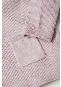 Fioletowy sweter Mango Kids gładki, na co dzień, casualowy #5
