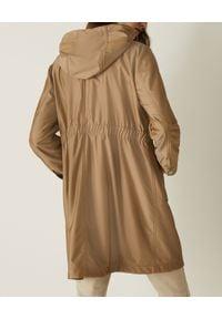 Marella - MARELLA - Beżowa parka z kapturem Gambero. Typ kołnierza: kaptur. Kolor: beżowy. Materiał: jeans, jersey, tkanina. Długość rękawa: długi rękaw. Długość: długie