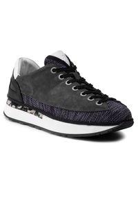 Fly London - Sneakersy FLY LONDON - Dazofly P501039001  Blu/Char/Wh/Blk. Okazja: na co dzień. Kolor: szary. Materiał: skóra, zamsz, materiał. Szerokość cholewki: normalna. Styl: sportowy, casual