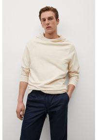 Mango Man - Spodnie LEO. Kolor: niebieski. Materiał: materiał. Wzór: gładki