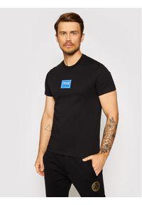 Versace Jeans Couture T-Shirt 71GAHT08 Czarny Regular Fit. Kolor: czarny