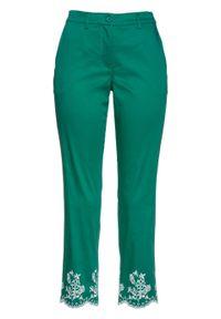 Zielone spodnie bonprix z haftami