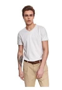 Beżowy t-shirt TOP SECRET