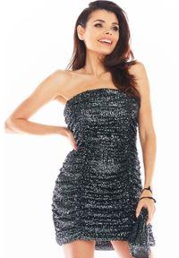 Szara sukienka Awama z gorsetem, gorsetowa