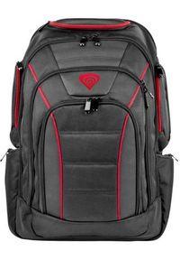 Czarny plecak na laptopa Genesis w paski, biznesowy